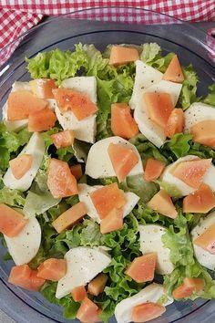 Papaya Caprese keto Salat #Papaya #PapayaSalat #KetoSalat