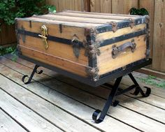 D C Metal Designs Old Trunk Coffee Table Stand