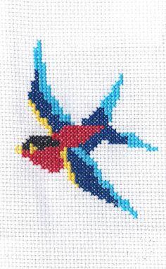 Sailor Jerry golondrina Cross Stitch patrón PDF Descargar