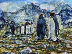 pucik / V kráľovstve  tučniakov Painting, Art, Art Background, Painting Art, Kunst, Paintings, Performing Arts, Painted Canvas, Drawings