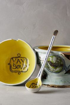 Dreambirds Tureen with Ladle - anthropologie.com