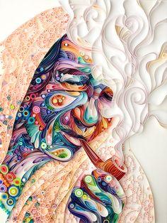 Quilled Paper Portrait by Yulia Brodskaya