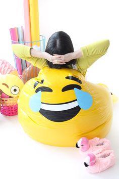 DIY Emoji Bean Bag Chair.