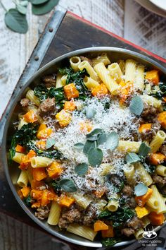Pasta with Sausage, Roasted Butternut Squash, and Kale - Shared Appetite