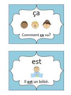 Primary French Immersion Resources: Sight word flashcards Spanish Teaching Resources, Spanish Language Learning, French Resources, Spanish Activities, Work Activities, Phonics Flashcards, Sight Word Flashcards, French Education, Education And Literacy