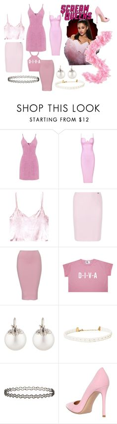 """Scream queens 1"" by ali-tomlinson21 ❤ liked on Polyvore featuring Rosie Assoulin, Basler, Samira 13, Miss Selfridge and Gianvito Rossi"