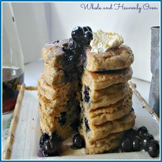 Best-Ever Blueberry Buttermilk Pancakes-- The tallest, fluffiest pancakes you will ever taste.