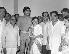 "Muhurat of #Zanjeer, the film that made #AmitabhBachchan a superstar and started the series of ""angry young man films""."
