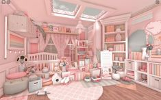 Tiny House Layout, House Layouts, Bedroom House Plans, Room Ideas Bedroom, Home Building Design, House Design, Home Roblox, Pink Cafe, House Plans With Pictures