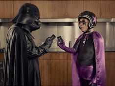 Dark Superhero Grandpa Befriends Darth Vader - My Modern Metropolis