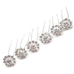 Multi Crystal in Silver Tone Flower Bridal Wedding Hair Pin (Pack of 6) CB Accessories,http://www.amazon.com/dp/B00BQLH3PM/ref=cm_sw_r_pi_dp_OyJmtb185BKM5JTC