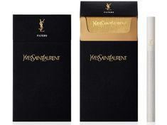 Yves Saint Laurent cigarettes. Definitely need to get my hand on a pack of these before I die.