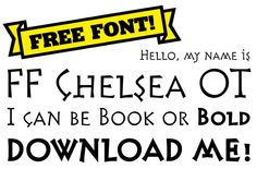 Find FF Chelsea on #FontShop and download it for free!