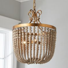 Rustic Glam Draped Chandelier - 3 Light - Shades of Light Beach Chandelier, Circular Chandelier, Wood Bead Chandelier, Industrial Chandelier, Kitchen Chandelier, Farmhouse Chandelier, Chandelier Bedroom, Chandelier Shades, Chandelier Lighting