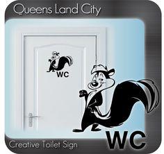 Creative Funny Bathroom Toilet WC Business by Queenslandcity2009