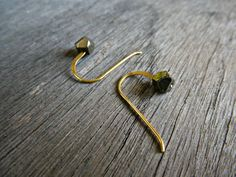 A feminine pair of vermeil gold and genuine pyrite or aquamarine stone studs for every day with any outfit. All metal parts of the earrings are vermeil gold (gold over sterling silver Wrapped for gift giving. Tiny Earrings, Gemstone Earrings, Gold Earrings, Drop Earrings, Minimalist Jewelry, Gifts For Her, Charms, Gemstones, Trending Outfits