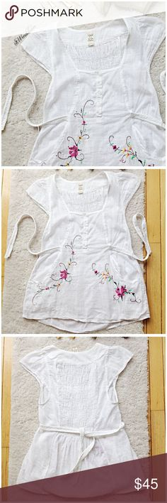 Free People Flower Child Blouse Like New. No holes, No rips, No stains. Feel free to ask questions or make an offer. NO TRADES Free People Tops