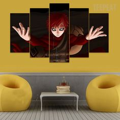 Naruto - Gaar - 5 Piece Canvas Painting #prints #prntable #painting #canvas #empireprints #teepeat