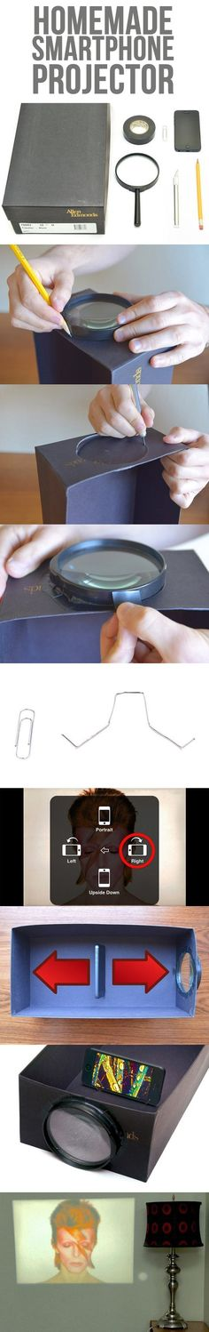 Homemade smartphone projector…I'm going to have to try this to see if it really works!