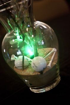Get creative and create glowing centerpieces, perhaps with LED golf balls!