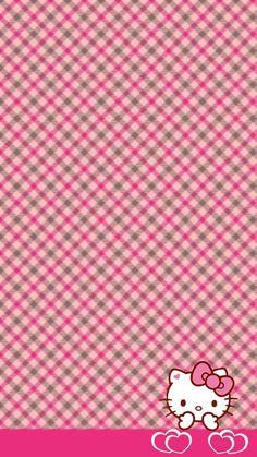 Hello Kitty Plaid Wallpaper