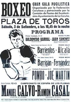 BOXEO : Plaza de Toros. . . 3 de septiembre. . . : gran gala pugilística / organizada por la Federación Coruñesa y patrocinada por la Comisión de Fiestas del Ayuntamiento de La Coruña ; [debuxo], Vidal. -- [A Coruña : Federación Coruñesa de Boxeo, 1966 (La Coruña] : Lit. e Imp. Roel). -- 1 lám. (cartel) : il. ; 101 x 71 cm. Ecards, Memes, Comforting Words, Boxing, Blue Cross, E Cards, Meme