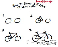 How to draw a Good Enough bicycle - tutorial image by Jeannel King