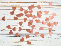 Hochzeitsdeko - Konfetti Herzen Kupfer - ein Designerstück von Gisa-s bei DaWanda
