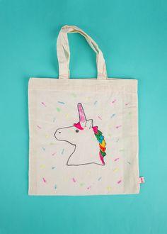 DIY - Le sac à customiser licorne - Atelier anniversaire enfant - My Little Day