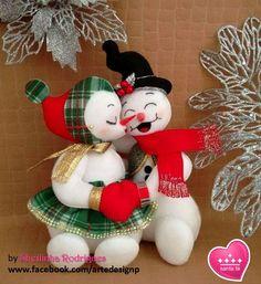 Bonecos de neve (feltro)