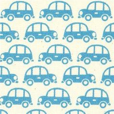 Tiny cars in blue
