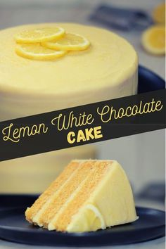 This lemon white chocolate cake is so simple to make but perfect for birthdays and celebrations. The deliciously zesty sponge is frosted with a sweet lemony white chocolate ganache for the perfect balance between citrusy and creamy. White Chocolate Cookies, Chocolate Topping, Chocolate Ganache, Delicious Cake Recipes, Cupcake Recipes, Dessert Recipes, Cheesecake Desserts, Lemon Desserts, Types Of Sponge Cake