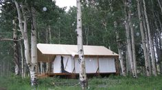 Tent Wall Tent And Platform On Pinterest