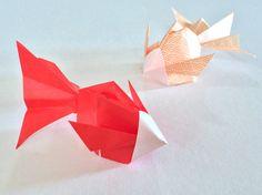 Origami Goldfish.        折り紙 金魚