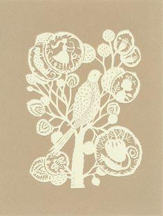 Paper sculptures - bird tree
