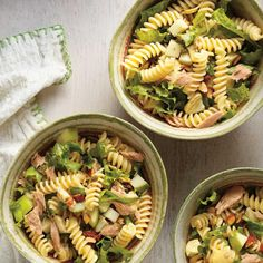 Pasta, Tuna, Apple and Artichoke Salad Simple Tuna Pasta Salad Recipe, Tuna Salad Pasta, Easy Salad Recipes, Artichoke Salad, Ricardo Recipe, Italian Dressing, Entrees, Main Dishes, Easy Meals