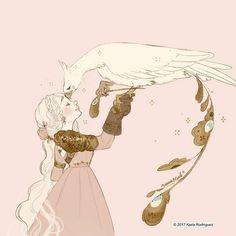 Sketch of Cerisse and The firebird. Alan Rickman, Pretty Art, Cute Art, Art Fractal, Arte Disney, Character Design Inspiration, Aesthetic Art, Cute Drawings, Art Sketches
