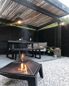 Yes to barbeques. Yes to sundowners. Yes to staying out after the street lights have come on.   📸:   Tap to shop the Windwood Outdoor Lights   Outdoor Tiles, Outdoor Spaces, Indoor Outdoor, Outdoor Decor, Bamboo Ceiling, Living Room Trends, Colorful Chairs, Clever Design, Garden Spaces