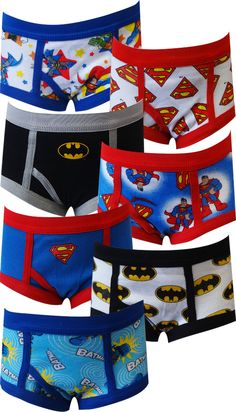 DC Comics Super Friends Awesome 7 Pack Toddler Boys Briefs Time to save the planet from evildoers! This fun 7-pack of classic b...