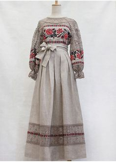 Linen dress to the floor