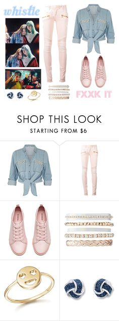 """BIGBANG & BLACKPINK - FXXK IT X WHISTLE '에라 모르겠다X휘파람'"" by slmsna ❤ liked on Polyvore featuring ZAK, Balmain, H&M, Charlotte Russe and Bing Bang"