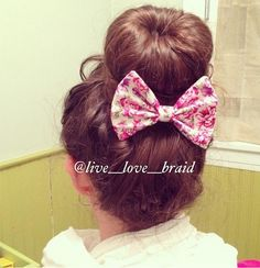 Sock Bun with Bow - Hairstyles How To