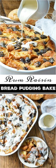Go ahead and indulge your sweet craving with this Rum Raisin Croissant Bread Pudding Bake Recipe. Perfect for a dessert to feed a crowd or as an easy breakfast casserole. Made with buttermilk, croissants, royal raisins and rum flavor! ad