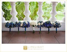 Limelight Photography, www.stepintothelimelight.com, Wedding, Avila Golf and Country Club, Florida, Bouquet, Flowers, White, Blue, Green, Roses