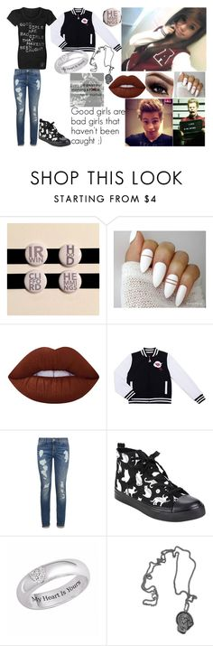 """Erin Samuel // Luke's girlfriend"" by the-happy-emo ❤ liked on Polyvore featuring Lime Crime, Betsey Johnson and Tommy Hilfiger"