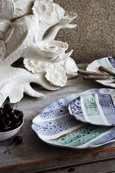experimental glaze dinnerware from portugal... beautiful!