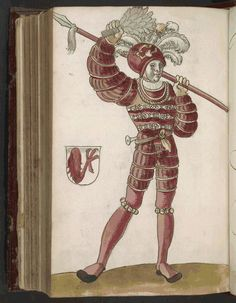 Schonbartbuch, 113 of 176, 1513, Nuremberg, Bavaria; full page colored drawings of the participants in the Schembart Carnival in Nürnberg from 1449-1539, with their names, a description of their costumes, and, for some years, an account of the most important events.