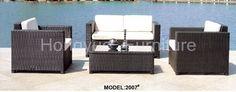 Rattan garden sofa furniture set with cushions sale