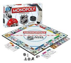 NHL Hockey Monopoly *I have this and the Chicago Blackhawks version* Flyers Hockey, Hockey Teams, Hockey Players, Hockey Birthday, Hockey Party, 10th Birthday, Youth Hockey, Hockey Mom, Hockey Stuff