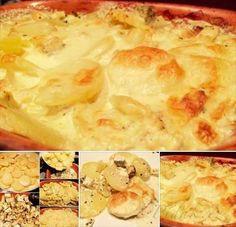 Obrázek z Recept - Zapečené mléčné brambory s bylinkovým tofu a konopným…